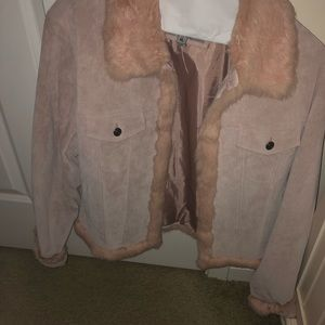 Wilson Leather Blush Fur Jacket
